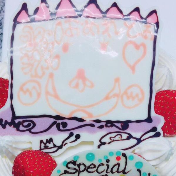 手書きイラストケーキ