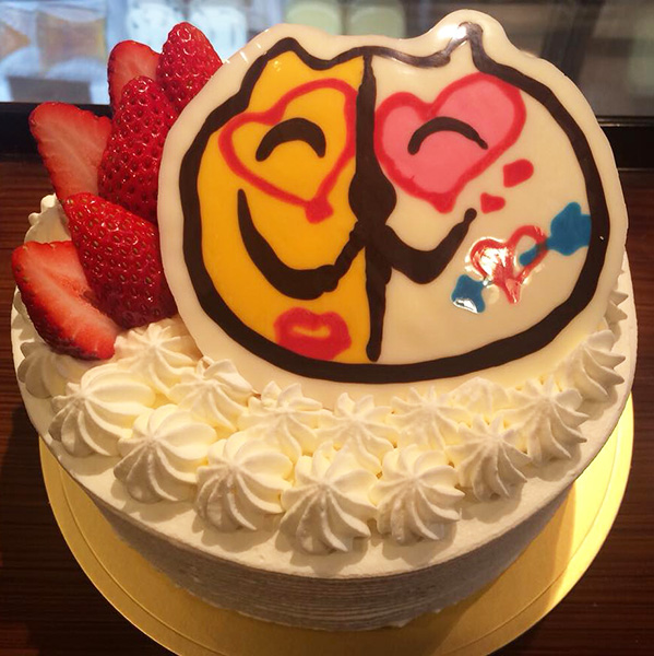 看板猫キサ君のケーキ