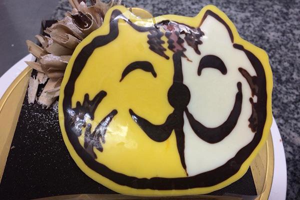 オリジナルイラストのケーキ
